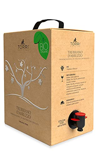 Vino bianco Bag in Box Trebbiano d'Abruzzo DOC Biologico 5 Litri