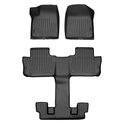 MAX LINER A0230/B0230 for 2017-2020 GMC Acadia with 2nd Row Bucket Seats, Black
