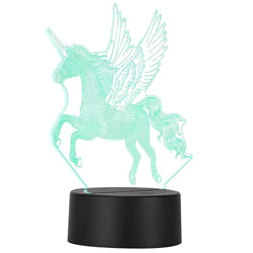 AOER La luz de la Noche, la luz Decorativa 3D llevó el Tipo Ligero de Nicorn para el Amigo relativo