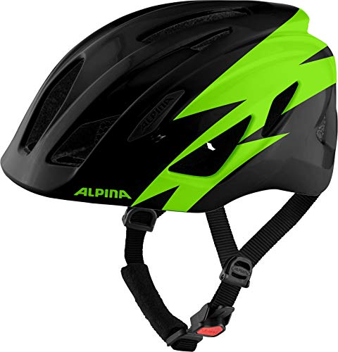 Alpina Unisex Jugend PICO Fahrradhelm, Black-Green Gloss, 50-55 cm