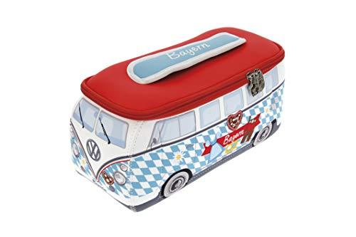 BRISA VW Collection - Volkswagen T1 Bulli Bus 3D Universal-Schmink-Kosmetik-Kultur-Reise-Hausrats-Tasche-Mäppchen-Beutel (Bayern/Neopren)