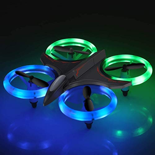 Drones for Kids, 2020 New Mini RC Drone with Altitude Hold and Headless Mode, Quadcopter with Blue & Green Lights, Propellers Full Protect and Double Batteries, Easy to Fly Gift Toy for Boys and Girls