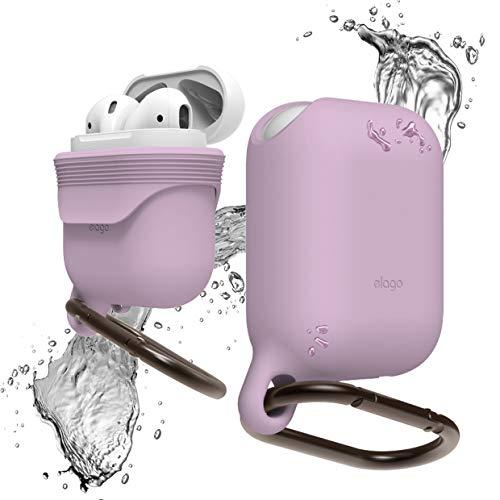 Elago - Funda impermeable compatible con Apple AirPods 1 y 2 (patente registrada en Estados Unidos), color lavanda