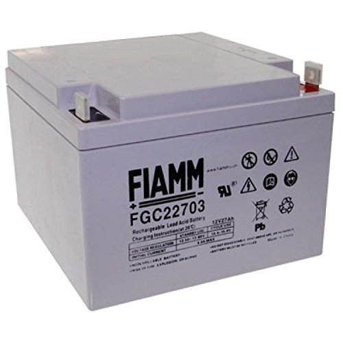Fiamm loodgel merkaccu FGC22703 cycli-accu 12V 27Ah AGM technologie voor Amigo Scooter Baja Centra Deluxe Escort GT SmartShopper PowerShopper Golfcaddy Golftrolley E-Z-GO Cruiser GT-600 GT-601 Elektrokaddy Birdie Kiffe Scratch SF 150N SF150N E-Trolley Scratch CFD 350N CFD350N ECaddy Scratch CFD 350 CFD350 QuidGolf Eagle QuidGolf Golftrolley Hole in One Flexus CFX 6 CFX6 Accu Battery Bateria Accu