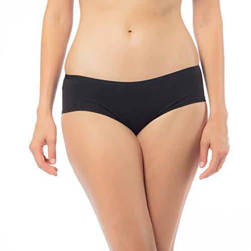 Libella® Panties Damen (6er-Pack) Boxershorts Unterhose Unterwäsche Set Baumwolle 3902 Schwarz XL