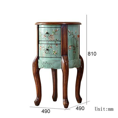 Lagerkast rubber hout retro multifunctionele woonkamer opslagkast Europese kleine kast met lade (kleur: A) C