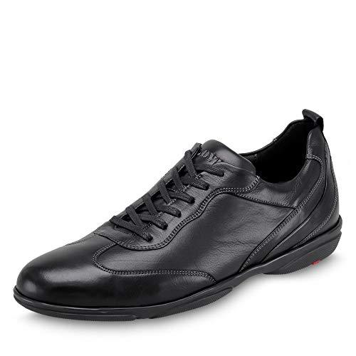 LLOYD Herren Sneaker Bern, Männer Low-Top Sneaker,lose Einlage,schnürschuh,strassenschuh,Man,Halbschuh,Business,Freizeit,Men,SCHWARZ,43 EU / 9 UK