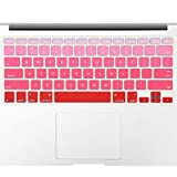 Allinside Red Ombre Keyboard Cover Skin for MacBook Pro 13' 15' 17' (2015 or Older Version), MacBook Air 13' A1369/A1466, Older iMac Wireless Keyboard MC184LL/B