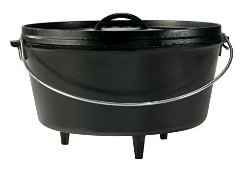 Lodge L12DCO3 Deep Camp Dutch Oven, 8 Quart