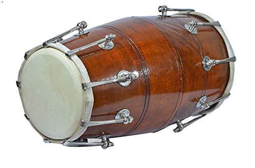 PAL MUSIC HOUSEWood Dholak Indian Folk Musical Instrument Drum Nuts & Bolt.