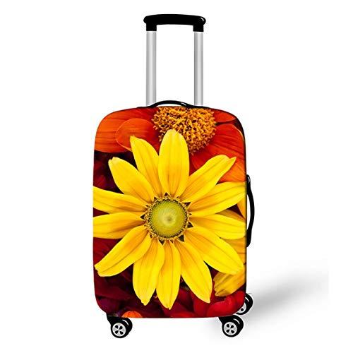 Sonnenblume Kofferhülle Kofferschutzhülle Elastisch Verschleißfeste Reisekoffer Hülle Luggage Cover mit Reißverschluss 18-28 Zoll Gepäckraumabdeckung Schutzbezug Kofferschutz P2 L