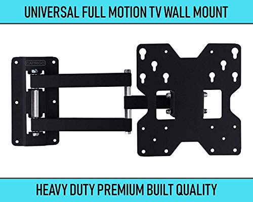 Caprigo Super Heavy Duty TV Wall Mount Bracket for 14 to 43 inches LED/4K/UHD/Smart TV, Universal Full Motion Tilt &...
