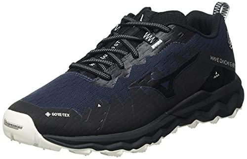 Mizuno Wave Daichi 6 GTX, Zapatillas para Carreras de montaa Hombre, Indiaink Pgold Negro, 40 EU