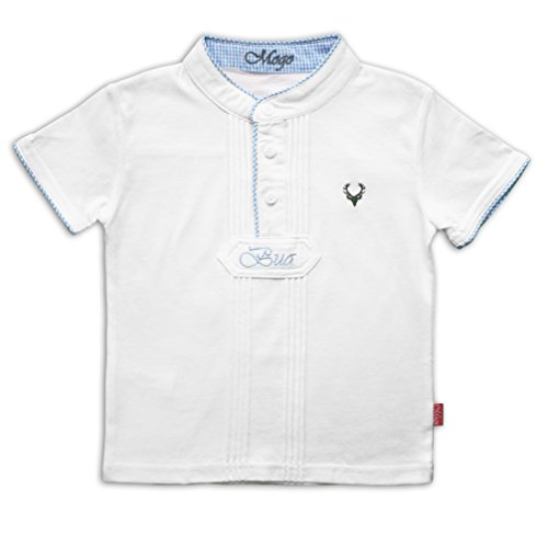 Shirt Pfoadl, blau, 122/128, kXL, 7-8 Jahre, Kurzarm