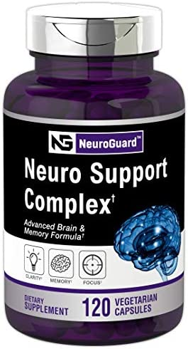 Neuro Support Supplement 120 Capsules Advanced Brain Formula for Memory Focus Clarity Vegetarian product image