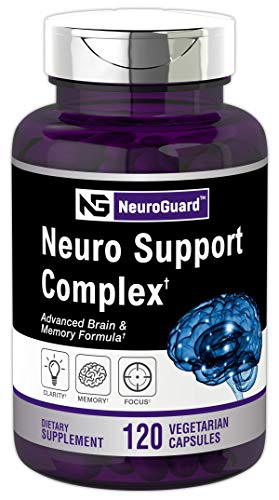 Neuro Support Supplement | 120 Capsules | Advanced Brain Formula for Memory, Focus, Clarity | Vegetarian, Non-GMO & Gluten Free | Brain Support | by Horbaach