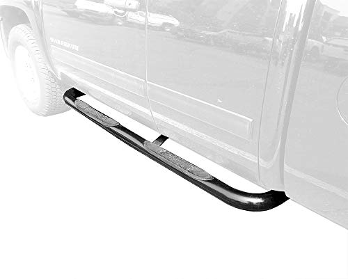 MaxMate Premium Compatible with 1999-2017 Chevy Silverado/GMC Sierra Extended/Double Cab Black 3' Side Step Rails Nerf Bars Running Boards(2pcs with Mounting Bracket Kit)