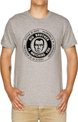 Vendax Freedom is Slavery - Ignorance is Strength - War is Peace - George Orwell, 1984 - Orwell Camiseta Hombre Gris