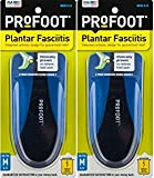 ProFoot Orthotic Insoles for Plantar Fasciitis & Heel Pain, Men's 8-13, 2 Pair