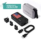 TRYACE 2200W Travel Voltage Converter with 10A Dual Adapter 4-Port USB, Travel...