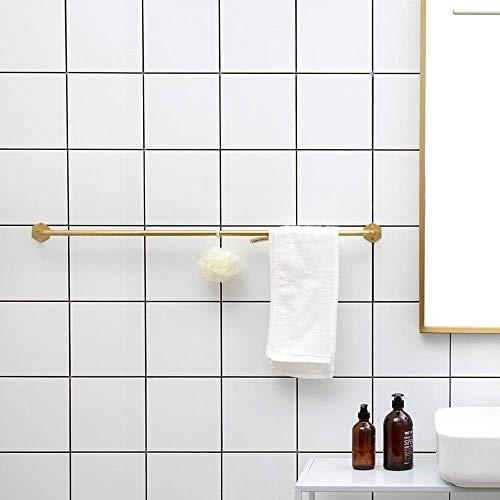JIUJ Moderno Vintage Toallero de oro Gancho giratorio con barra individual Baño europeo Cuarto de baño Toalla vieja, barra de ducha Cuarto de ducha,Puñetazo,