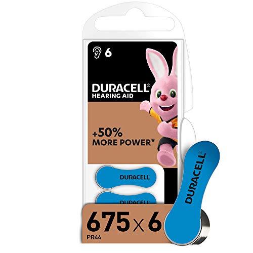 Duracell 675 Pila para audífonos con Easy Tab, 6 unidades, Color Azul