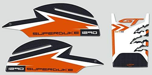 Set Protector de Depósito y Laterales Stickers 3D Moto compatible con KTM 1290 Super Duke Gt