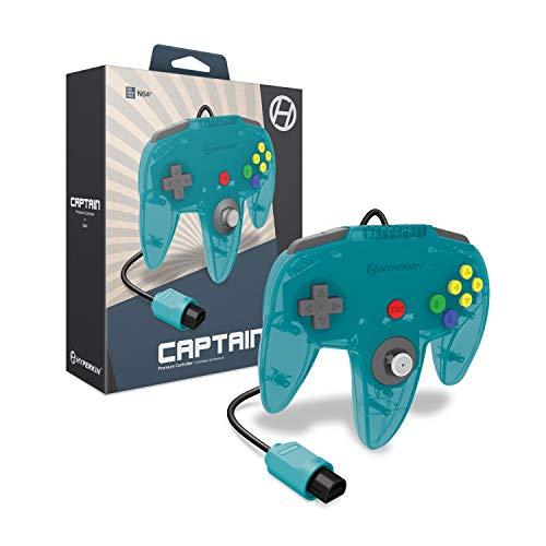 Hyperkin 'Captain' Premium Controller for N64 (Turquoise) - Nintendo 64