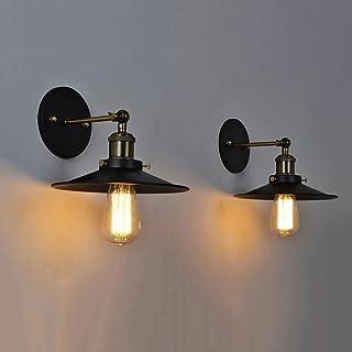 Industri毛le wandlampen Bedrade blaker Vintage wandlamp, 2 stuks zwarte afwerking Arm Swing Indoor verlichtingsarmaturen, r...