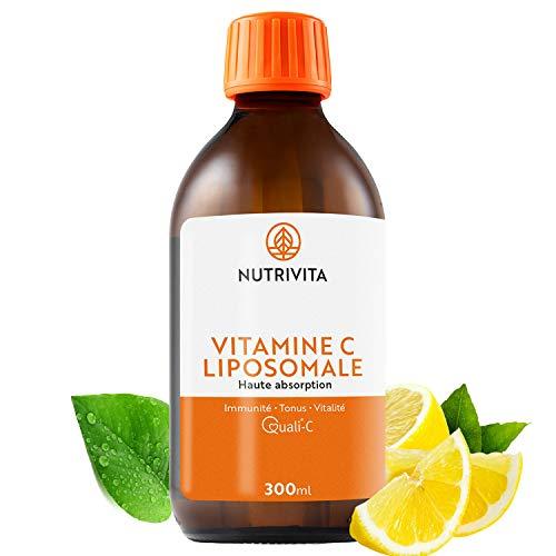 Vitamina C Liposomal | Dosificación Potente y Máxima Absorción | Formulado con Vitamina C Quali®-C | Fabricado en el Reino Unido | Botella de 300 ml | Nutrivita