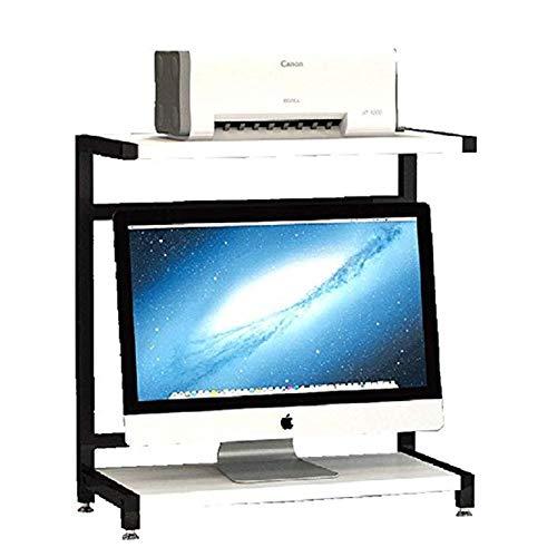 Stojaki na biurko do drukarki 2-poziomowy blat drewniany stojak na monitor stojak do drukarki do przechowywania biurko stojak do przechowywania PC stojak do przechowywania do domu i biura stojak na drukarki (kolor: C)