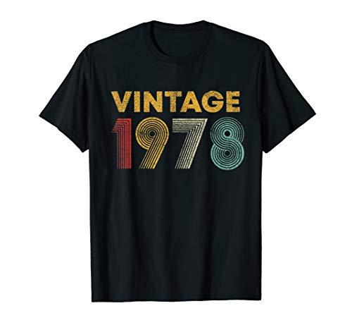 42. Geburtstags Geschenk Jahrgang Retro Vintage 1978 T-Shirt