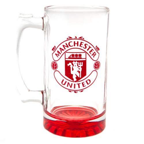 Manchester United F.C Stein Glass Tankard Crest Wine Beer Gift Birthday Present