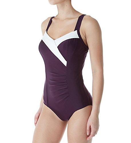 Panache Portofino Balconnet Swimsuit (SW0950) 34E/Aubergine