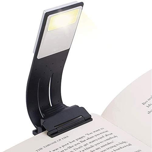 Leselampe, Buchlampe, Leselicht, Wiederaufladbar LED Buchlampe mit Clip und 3 Farbmodi mit einstellbarer Helligkeit Tragbare und Flexibel, Arbeitsplatzleuchten für Amazon Kindle/eBook Reader/Book/ipad