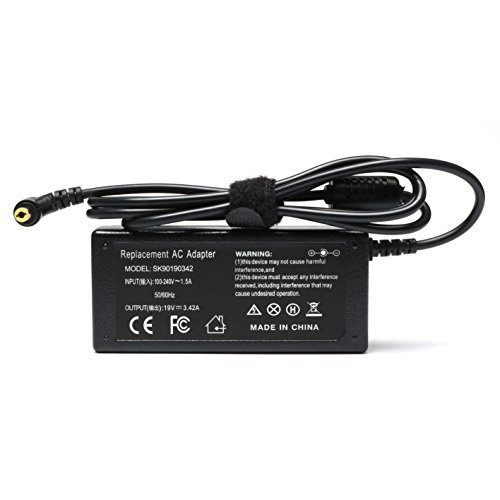 Tinkon 65W AC Laptop Charger Supply for Toshiba Satellite E45T E55 E55T L55 L75 C55D C55DT C75 C75D C655 C855 C655-S5512 C655-S5514 C675 C855-S5214 Power Cord