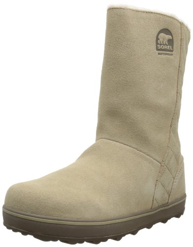 Hot Sale Sorel Women's Glacy Snow Boot,British Tan/Saddle,8 M US