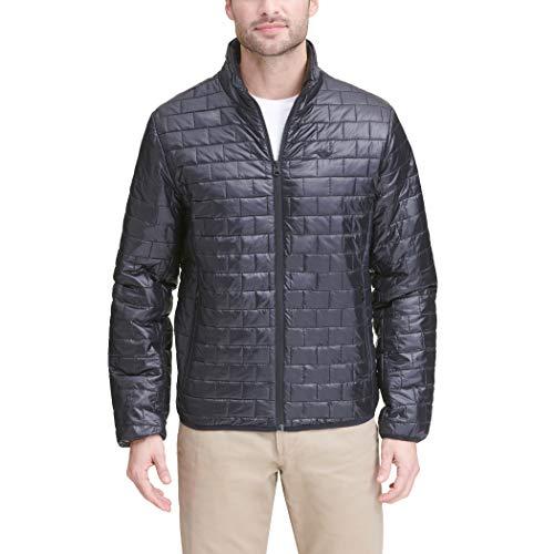 Dockers Men's Lightweight Ultra Loft Quilted Packable Jacket (Regular and Big & Tall), Black, Medium