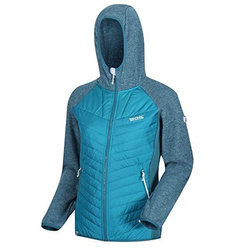 Regatta Pemble Ii Hybrid-Softshell-Jacke, Damen, leicht, isolierend, mit seitlichen Paneelen, Stretch Fleece L Ocean Depth/Sea Blue