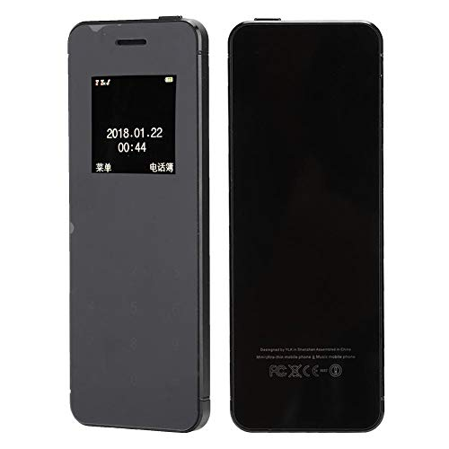 2G mobiele telefoon, lichte telefoon, zwarte draagbare telefoon, V36 creatieve ultradunne dubbelzijdige gehard glazen mobiele telefoon met alarmsysteem