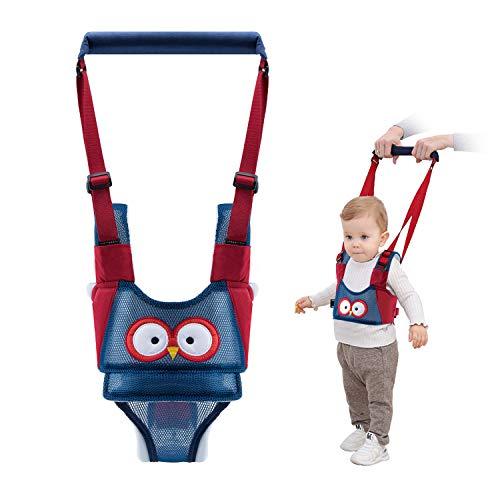 Vicloon Lauflernhilfe Gehhilfe für Baby, Baby Lauflernhilfen Einstellbare mit Sicherheitsverschluss und Magischen Aufklebern, Mesh-Design Breathable Stehen Gehen Lernen Helfer Walker für Baby (Blau)