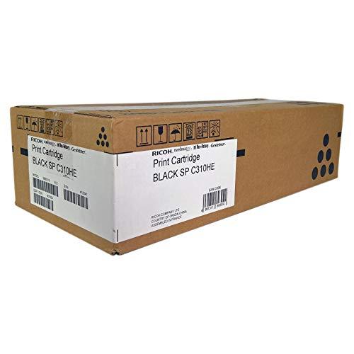 Original Toner passend für Nashuatec SP C 230 Series Ricoh C310HE, TYPESPC310HE 406479, 406491, 407634, RHC310HEK - Premium Drucker-Kartusche - Schwarz - 6.500 Seiten