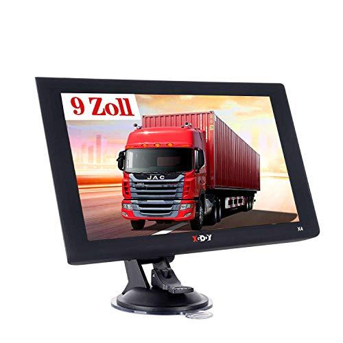 Xgody X4F Navigationsgeräte für Auto,9 Zoll LKW Navi mit Freisprecheinrichtung,8GB Auto GPS,POI Blitzerwarner,2020 EU&UK Lebenszeit Kostenloses Kartenupdate