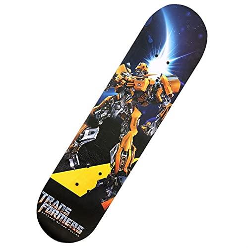 PDVCB Skateboard Skateboard 4 Roues Skateboard de Skateboard 4 Roues Skiderman Débutant Spiderman Spiderman