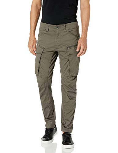 G-STAR RAW Herren Hose Rovic Zip 3D Straight Tapered, Grau (Gs Grey), 33W / 34L