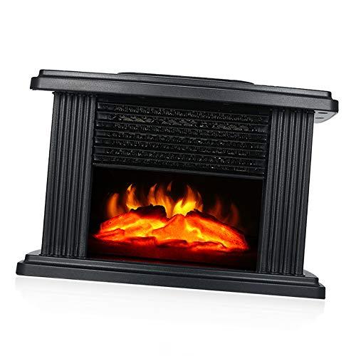 ZYFB Elektro kaminofen, E-Kamin, Mini Elektrischer Kamin mit flammeneffekt, Fernbedienung Tragbare 1000 W Thermostat geräuscharm Kaminofen
