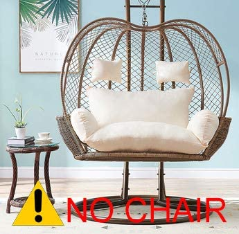 Thick Balcony Egg Nest Chair Pad Oversized 2 Persons Seater Hanging Hammock Chair Cushion Basket Swing Seat Mat For Indoor Outdoor Patio Backyard Lawn White 150x110x12cm 59x43x5inch Amazon Ca Home Kitchen