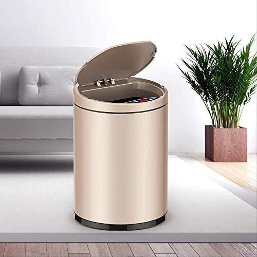 Baibao Smart - Papelera de acero inoxidable con panel táctil automático de inducción, para sala de estar, dormitorio, inodoro