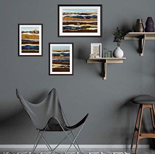 Muurstickers Posters muur valse fotos kopiëren 3D nep foto frame 3 paar olie schilderen huis decoratie cadeau