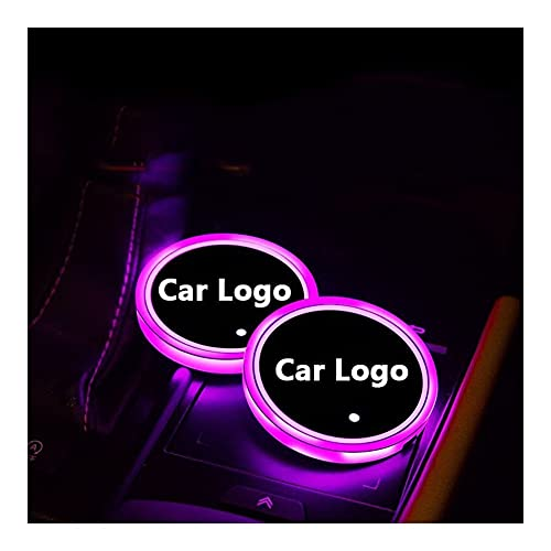 OUIPP cup holder lights 2pcs For Infiniti QX30 JX35 QX80 FX G M EX Q50 Q60 Q70 QX50 QX60 QX70 Led Logo Cup Light Luminous Coaster Drinks Holders Colors (Emitting Color : For Infiniti Logo)
